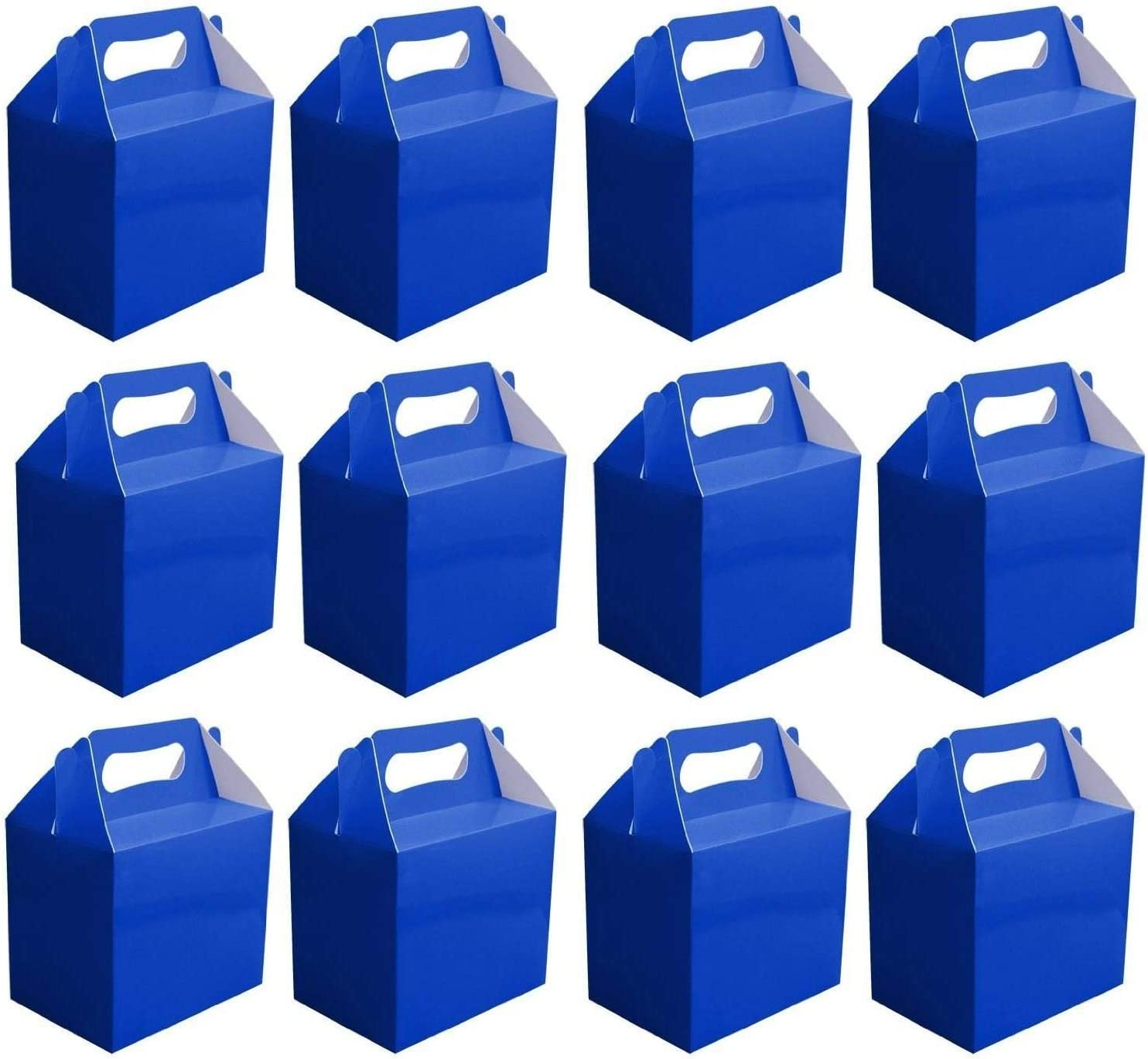Shatchi 30Pk Royal Childrens Lunch Takeaway Birthday Wedding Cake Meal Food Boxes Party Bags Bulk, Dark Blue