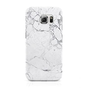 the latest 4c67a 8745f DYEFOR FAUX MARBLE EFFECT GREY WHITE PHONE CASE FOR SAMSUNG GALAXY S6 EDGE  G925