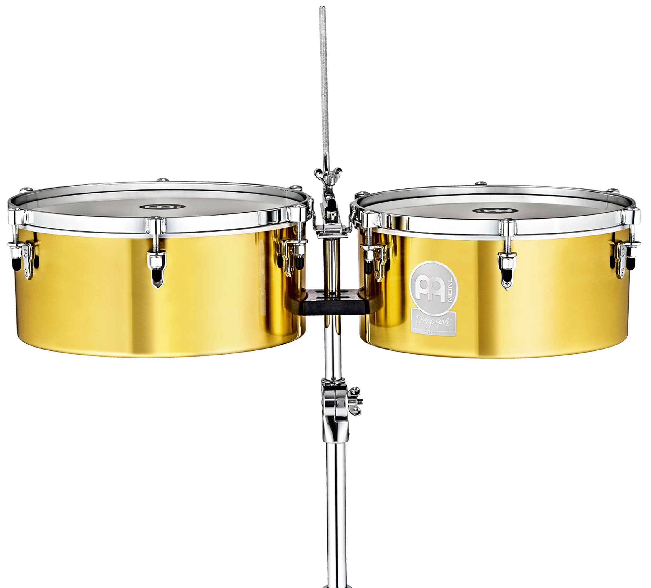 Meinl Percussion Diego Gale Solid Brass 14'' & 15'' Signature Artist Timbales (DG1415)