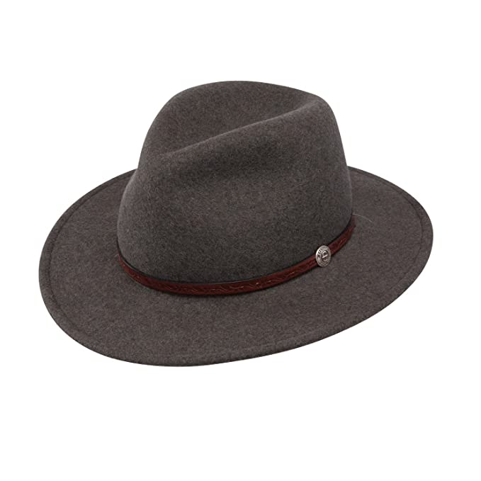 74d298085 Stetson Mens Cromwell Wool Felt Crushable Water Repellent Olive Mix Crusher  Collection Cowboy Hat