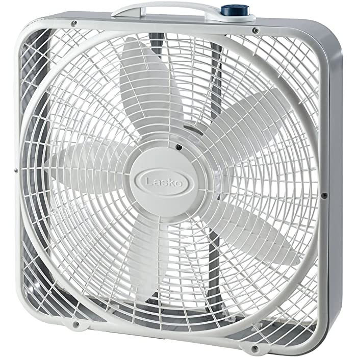 Lasko 20 inch Power Plus Box Fan, Gray