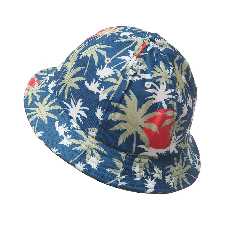 2019 Autumn Coconut Tree Print Bucket Hat Outdoor Sun Beach Cap Fisherman Panama Sports Hats for Women Men