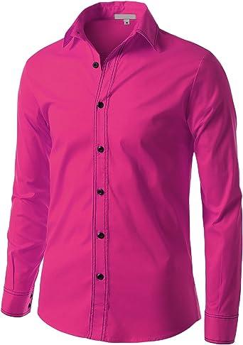 LE3NO Camisa Casual - para Hombre