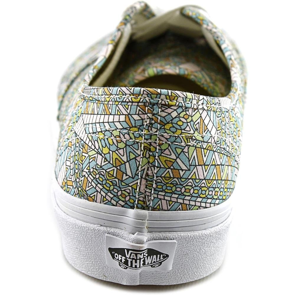1a70529f56 Galleon - Vans Unisex Authentic Abstract Skate Shoe-Abstract  White-9-Women 7.5-Men