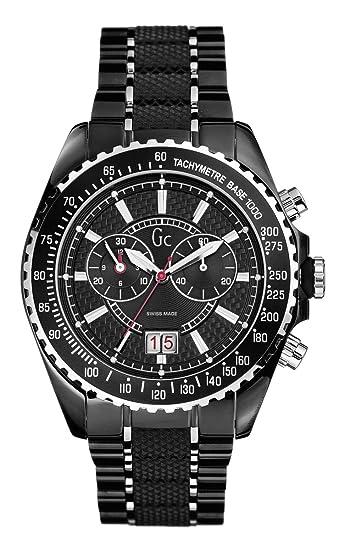 Guess Collection GC Sport Class 46001G2 - Reloj analógico de mujer de cuarzo con correa de acero inoxidable negra: Amazon.es: Relojes