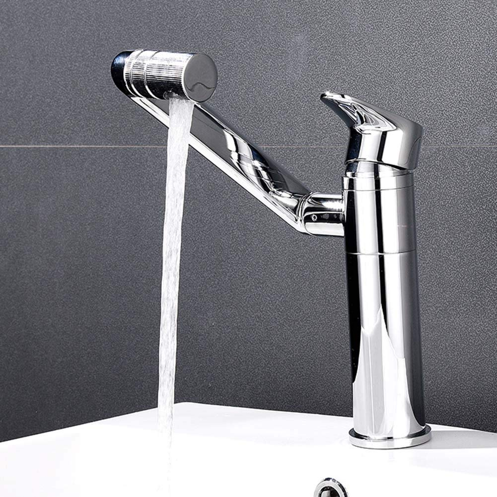 JTY Single Handle High Arc Brushed Nickel Pull Out Kitchen Faucet,Single Level Stainless Steel Kitchen Sink Faucets Top and Bottom Basin Faucet Free Rotation Water