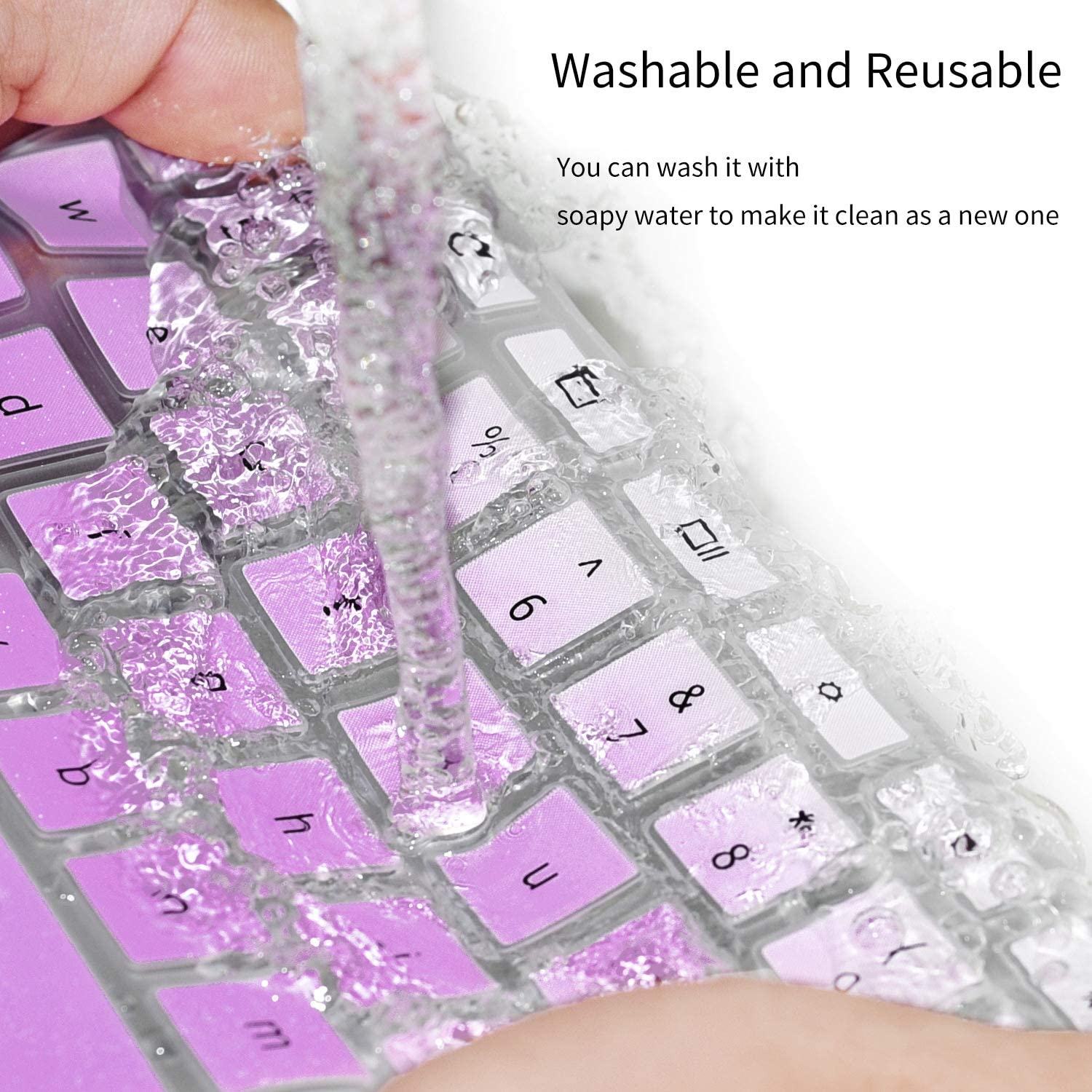 Ombre Purple CaseBuy Keyboard Cover for DELL XPS 13 9380 9370 9365 13.3 Laptop NOT Fit XPS 13 7390