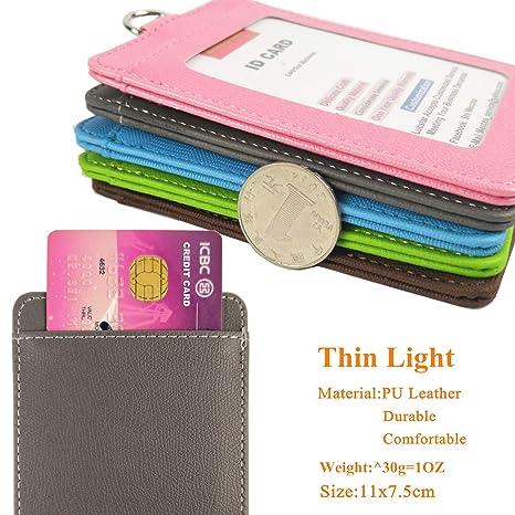 ... retráctil Clip para las mujeres, hombres trabajo acceso tarjeta de Crédito aceite tarjeta de socio, Kids School, pequeña cartera bolsa: Amazon.es: ...