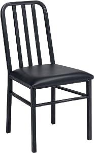 ACME Furniture 71997 Jodie Side Chair (Set of 2), Black PU & Antique Black