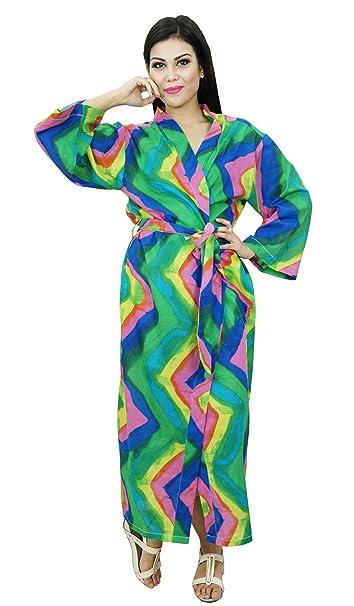 Kimono Mujeres indias Crossover Robe Novia que consigue listo Batas de algodón favores de la boda: Amazon.es: Ropa y accesorios