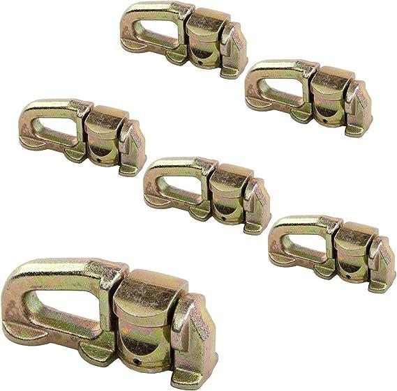 Pista de aluminio Tiedown Fitting 6500 LB tiedowns 6-Pack – no anillo: Amazon.es: Coche y moto