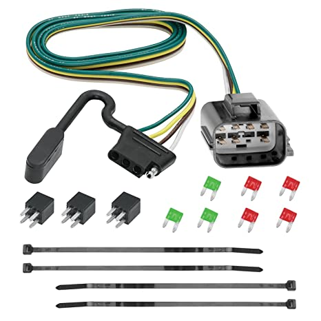 Amazon.com: Tekonsha 118270 4-Flat Tow Harness Wiring Package, 1 ...