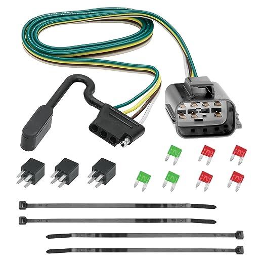 71beRKRvUmL._SX522_ amazon com tekonsha 118270 4 flat tow harness wiring package, 1 curt wiring harness 56151 at alyssarenee.co