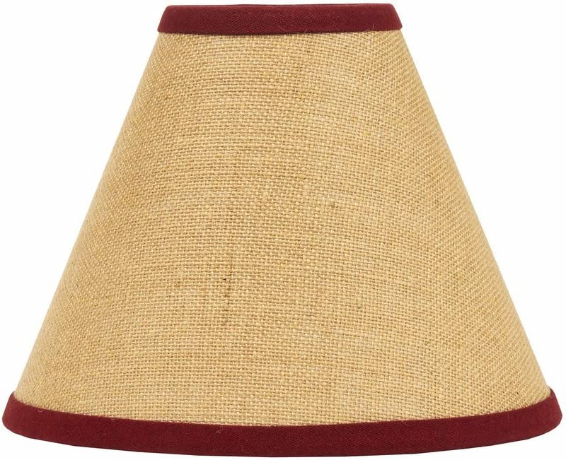 """Home Collection by Raghu Red Burlap Stripe Lampshade, 10"""""""