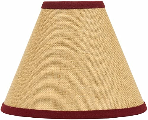 Home Collection by Raghu Red Burlap Stripe Lampshade, 10