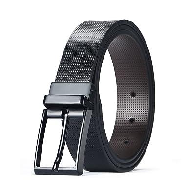Ceinture pour hommes en cuir avec boucle à ardillon rotative ceinture longue  de luxe pour le 4b8a516d39a