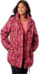 860ea77320448 Woman Within Plus Size Taslon Fleece-Lined Parka