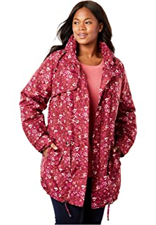 f60d24ba205 Woman Within Plus Size Zip-Front Microfleece Jacket at Amazon ...