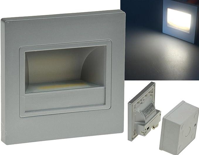 Lámparas LED para instalación en plata de lámpara, LED COB de 1,5 W blanco frío de 94 x 94 mm 230 V IP40, para luz de escaleras, niveles de, montaje empotrado: Amazon.es: Electrónica