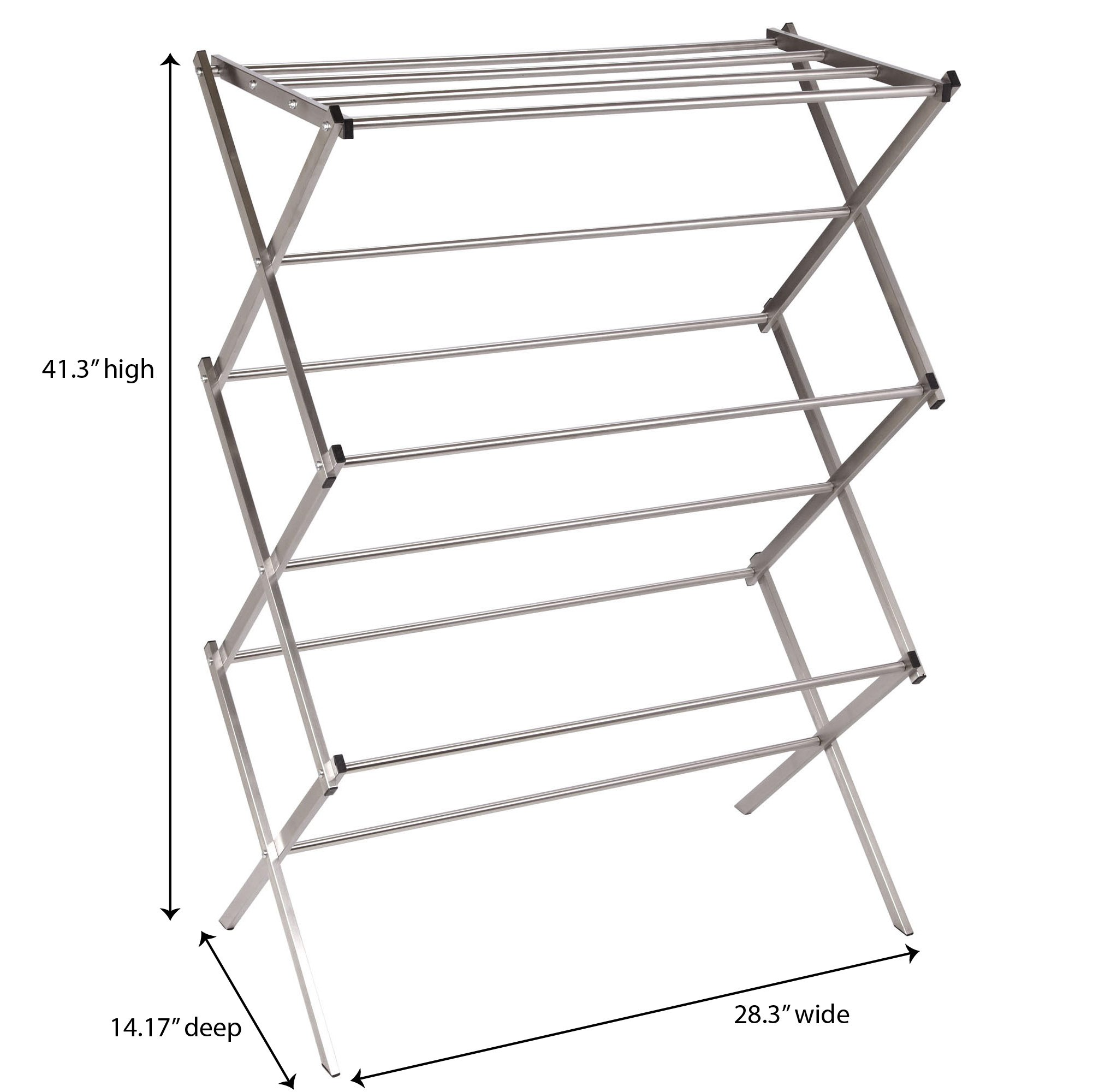 Household Essentials Folding X-Frame Clothes Dryer, Stainless Steel by Household Essentials (Image #6)