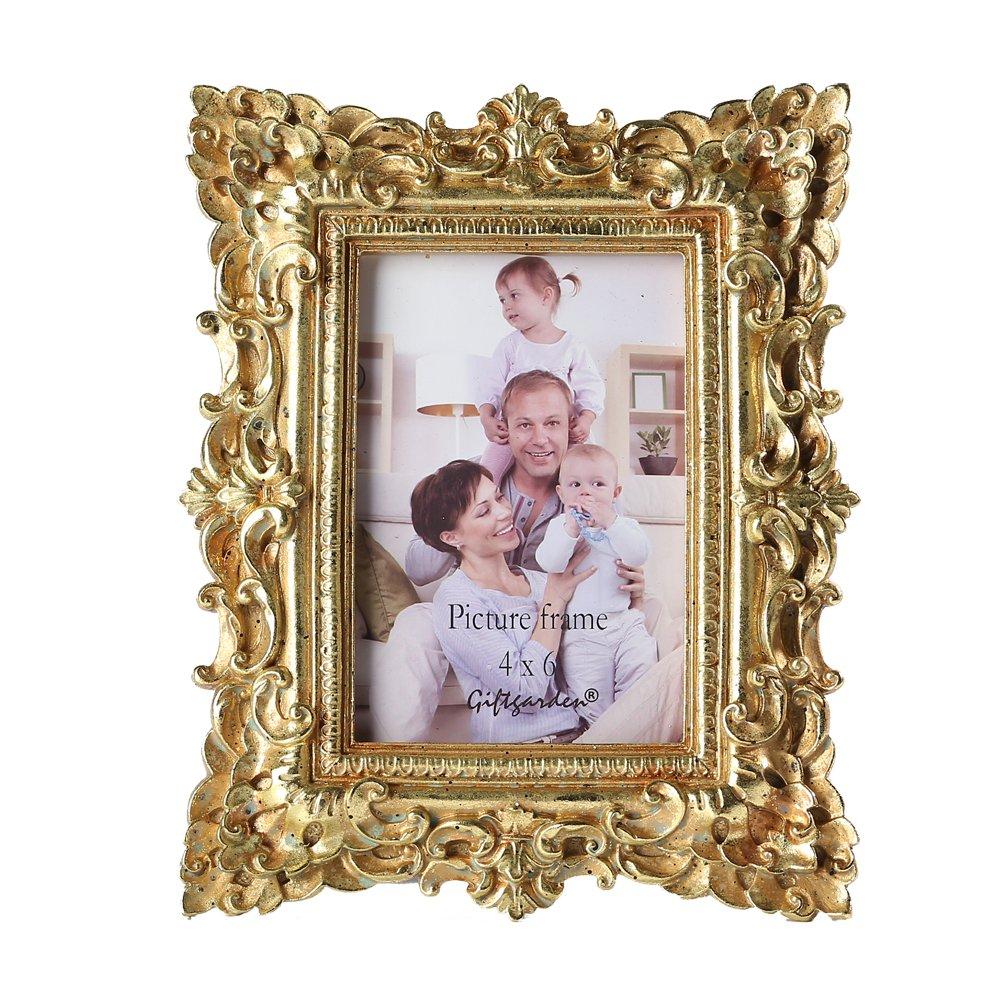 Amazon.de: Giftgarden Bilderrahmen Gold Vintage Fotorahmen Deko ...