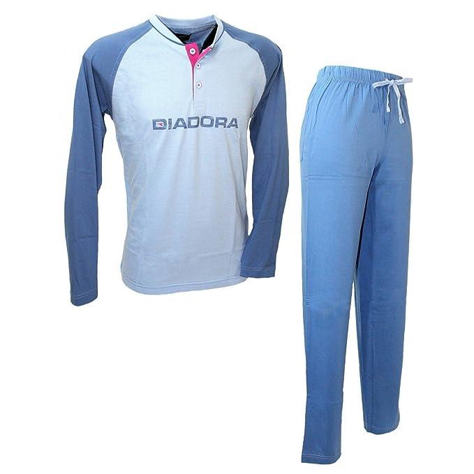 Pijama Hombre Manga Larga Diadora M/48-L/50-xl/52 puro algodón tinta 60227: Amazon.es: Ropa y accesorios
