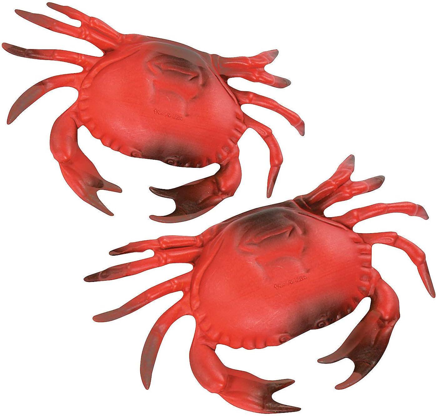 Fun Express Plastic Crab for Nautical Decor - Beach Decor - Coastal Decor - 1 pc