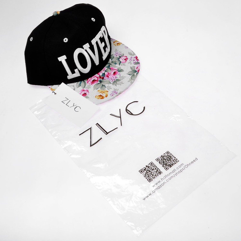 ZLYC de la mujer Flatbill visera sombrero de béisbol gorra estampado Floral  ajuste negro LOVER white  Amazon.es  Ropa y accesorios c193172e562