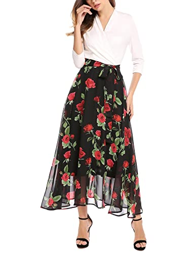 ANGVNS Women 3/4 Sleeve Patchw...
