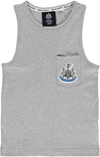 Nufc Newcastle United Canottiera Muscoli Juniors Calcio Camicia Canotta Grigio 13 Years (X-Large)