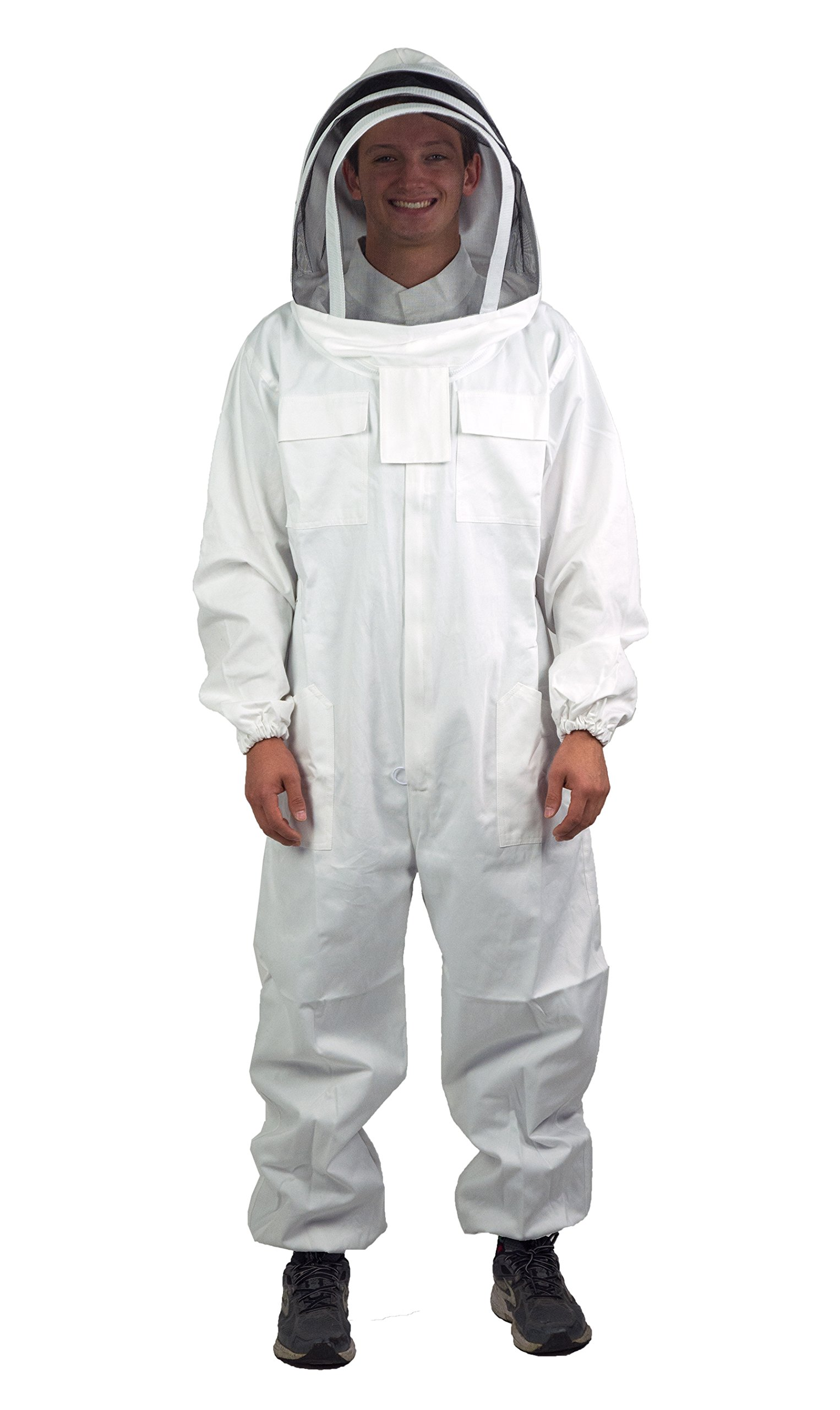 VIVO New Professional XL Cotton Full Body Beekeeping Bee Keeping Suit, with Veil Hood By (BEE-V106XL)