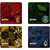 Harry Potter Hogwarts Houses Hardboard Coaster Set - Slytherin Gryffindor Ravenclaw and Hufflepuff
