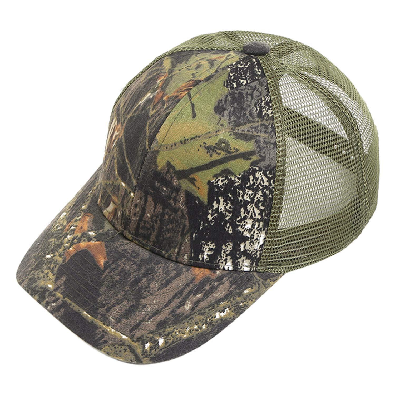 Ponytail Baseball Caps Hip Hop Camouflage Snapback Summer Trucker Dad Hat for Women Men Mesh Outdoor Hat