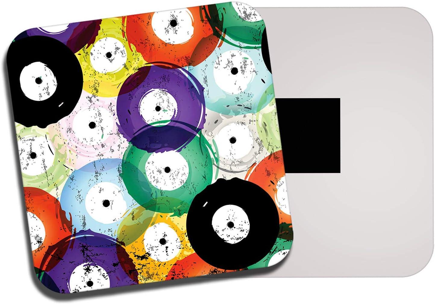 Bright Vinyl Records Fridge Magnet - Music DJ Mum Dad Retro Vintage Gift #14230