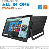 "iView 1760AIO All in One Computer/Tablet, 17.3"" IPS 1920 x 1080 Touch Screen, Intel Apollo Lake N3350 CPU, 4GB/32GB (Upgradable), Windows 10, WiFi 2.4/5GHz, Front Camera, Wireless Keyboard & Mouse"
