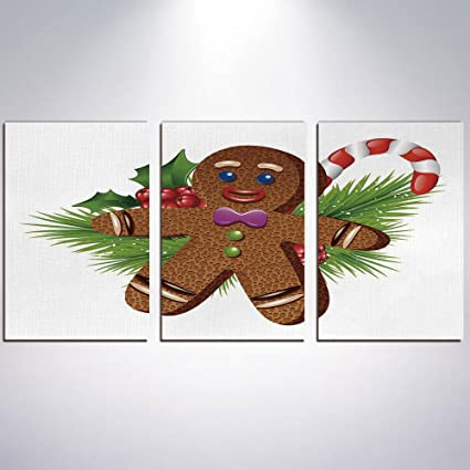 Amazoncom Canvas Print Painting Gingerbread Man With Frame