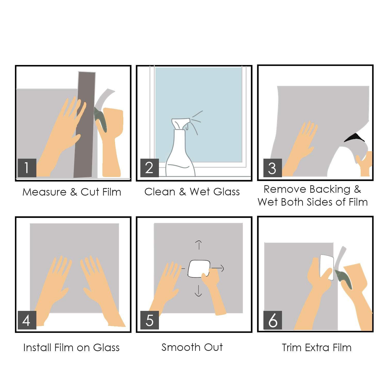 45 x 200cm Effet de Verre cach/é Opaque givr/é Autocollants d/écoratifs dauto-adh/ésif pour la Salle de r/éunion du Bureau de Salle de Bains /à la Maison trixes Privacy Screen Window Film