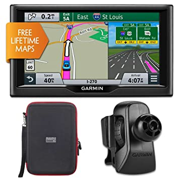 Garmin Nuvi Lm  Essential Series  Gps W Lifetime Maps Vent Mount Case