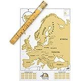 Luckies LUKEU Mappa del mondo personalizzata, Carta, Multicolor, 82.5x59.4x0.2 cm