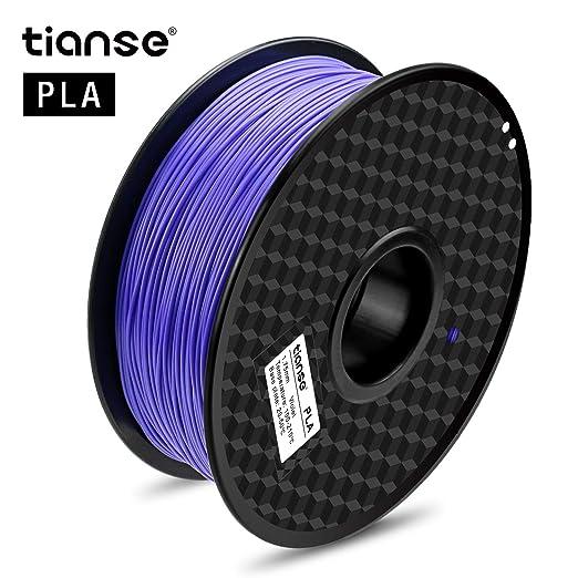 124 opinioni per TIANSE Viola filamento PLA per stampanti 3D, 1,75 mm, precisione dimensionale