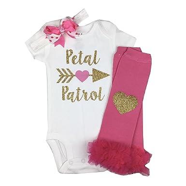 a8d0bd1c58f Amazon.com  Simply Swanky Baby Girl Petal Patrol Wedding Outfit Baby ...