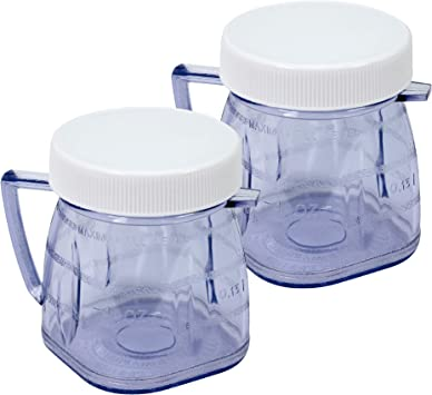 Mini tarro de plástico para batidora Oster (2 unidades): Amazon.es: Hogar