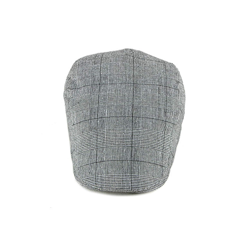 Blisfille Barett Junge Unisex Barett Plaid Baumwolle 55-60cm 11.5cm Hoch