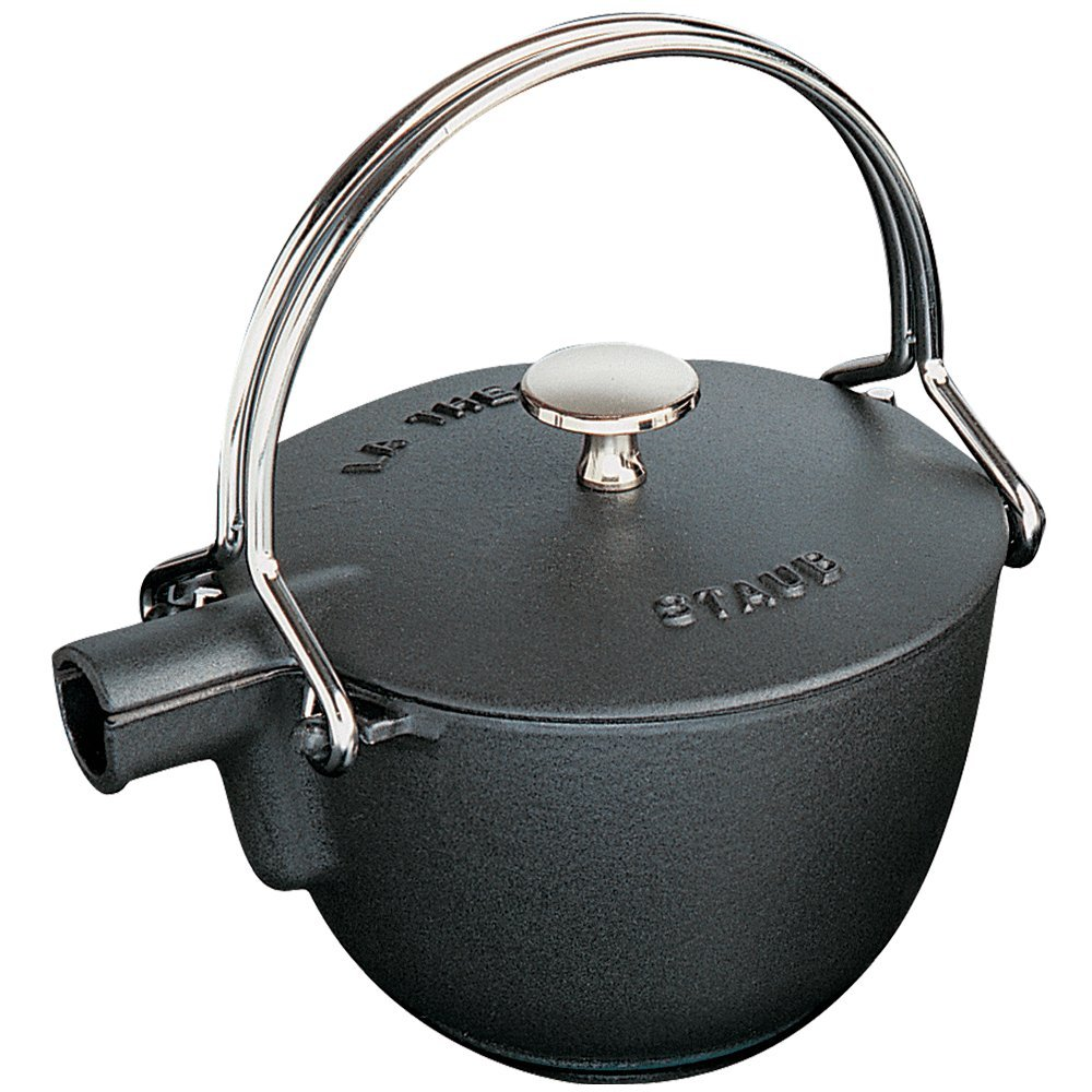 Staub 1 Quart Round Teapot, Black