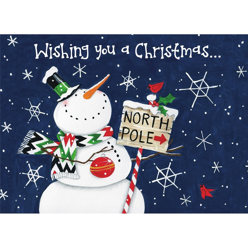 Legacy publishing group in a box holiday cartes polo norte boneco legacy publishing group boxed holiday greeting cards north pole snowman hbx22086 kristyandbryce Image collections