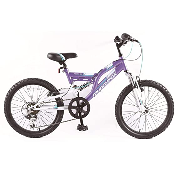 Muddyfox Girls Recoil 20 Mountain Bike Purple/White 20 Inch: Amazon ...