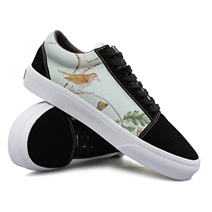 Bird And Butterfly On The Tree Women Casual Sneakers Shoes Skateboard Cool News Simple