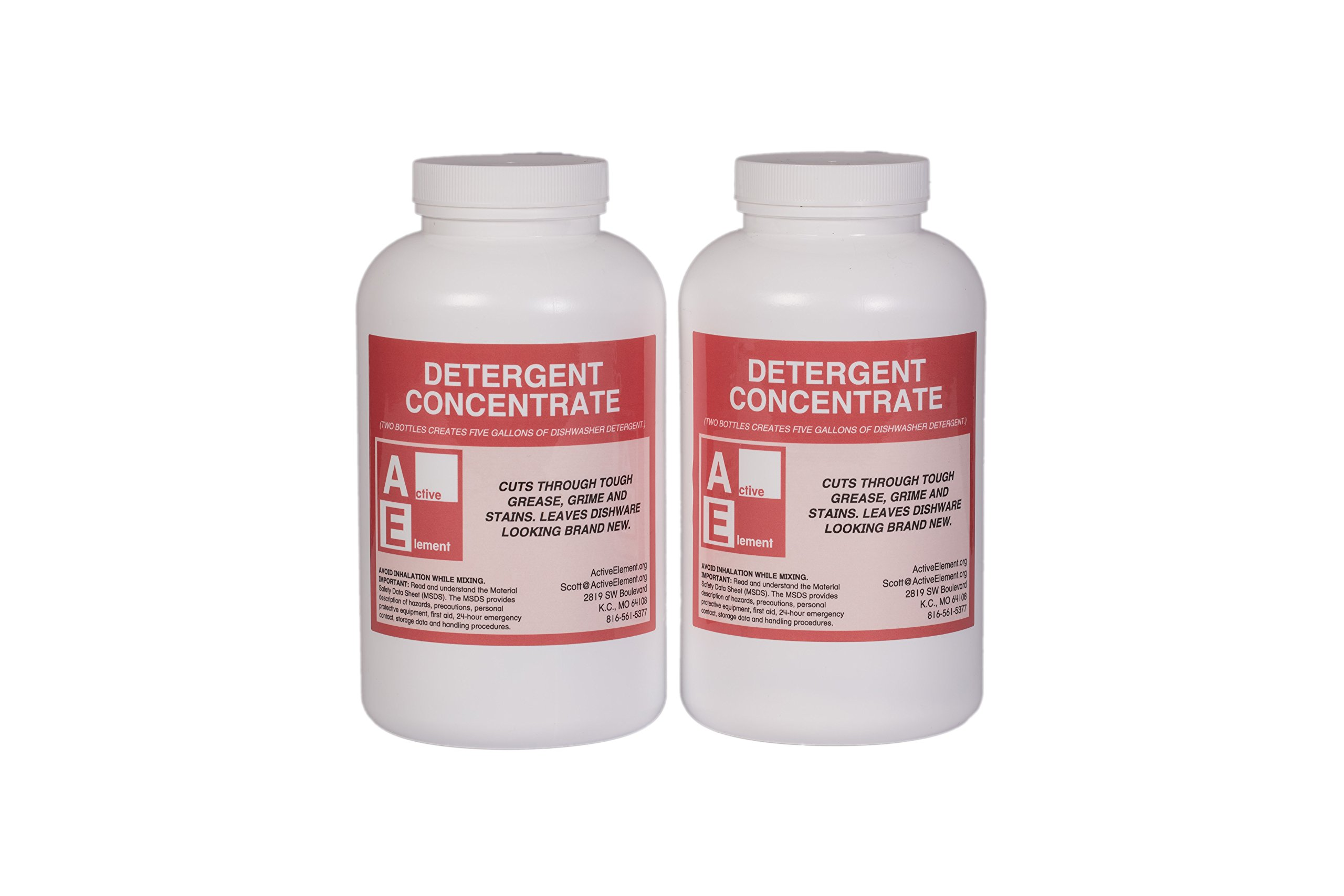 Commercial Dishwasher Detergent, Makes six 5-gallon pails, Commercial-Grade by Active Element (Image #2)