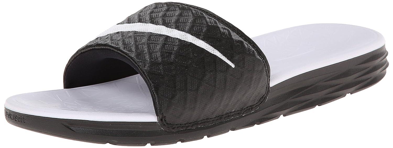 NIKE Women's Benassi Solarsoft Slide Sandal B00N2DSSQK 6 B(M) US Black/White