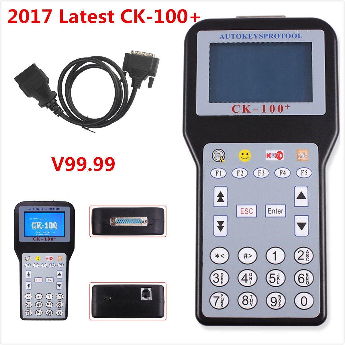 2017 Latest CK-100+ Car Key Programmer V99.99 Generation Multi-language SBB Tool